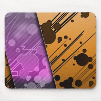 Lines Color Stripes Patterns Orange and Purple Mouse Pad