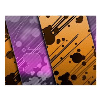Lines Color Stripes Patterns Orange and Purple Postcard