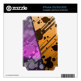 Lines Color Stripes Patterns Orange and Purple iPhone 3GS Skin