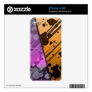 Lines Color Stripes Patterns Orange and Purple Skin For iPhone 4S