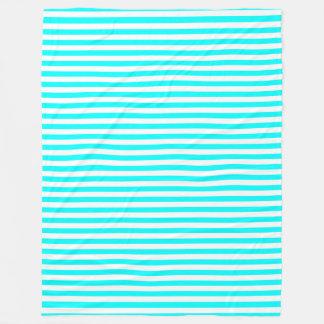 Lines Design Aqua Fleece Blanket