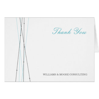 Lines & Dots Business Thank You Card