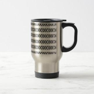 Lines Everywhere 15 Oz Stainless Steel Travel Mug