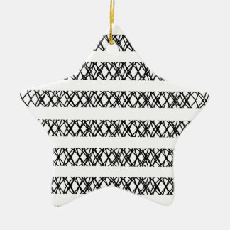Lines Everywhere Double-Sided Star Ceramic Christmas Ornament