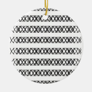 Lines Everywhere Double-Sided Ceramic Round Christmas Ornament