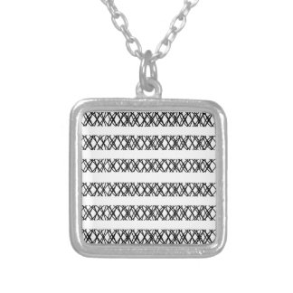 Lines Everywhere Silver Plated Necklace