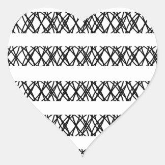 Lines Everywhere Heart Sticker