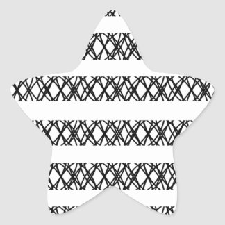 Lines Everywhere Star Sticker