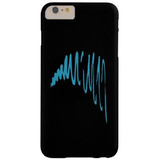 Lines_Go Squiggly con blue_minimalist del Funda De iPhone 6 Plus Barely There