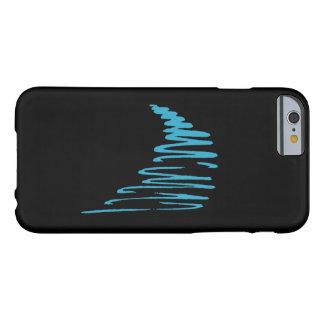 Lines_Go Squiggly con el azul del flow_aqua en Funda De iPhone 6 Barely There