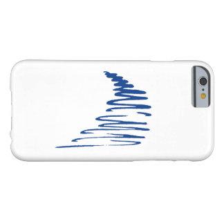 ¡Lines_Go Squiggly con el flujo! azul _navy Funda De iPhone 6 Barely There