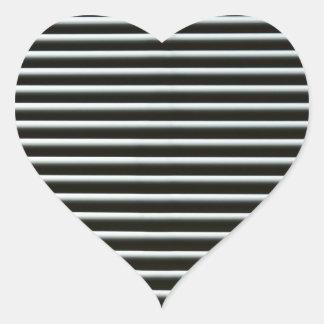 Lines Heart Sticker