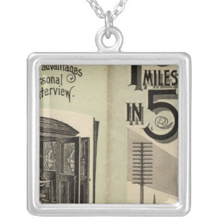 Lines in Maine Silver Plated Necklace