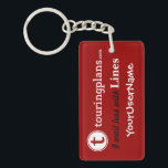 """Lines Key Chain (Red)<br><div class=""""desc"""">TO CUSTOMIZE: (1) Click on the &quot;Customize It!&quot; button just below the key chain&#39;s picture. (2) On the RIGHT, under &quot;Customize It!&quot; - in the bar that says &quot;YourUserName&quot; - click on &quot;Change text.&quot; (3) An &quot;Add Text... &quot; box will appear. Highlight &quot;YourUserName&quot; and type in your custom text. (4)...</div>"""
