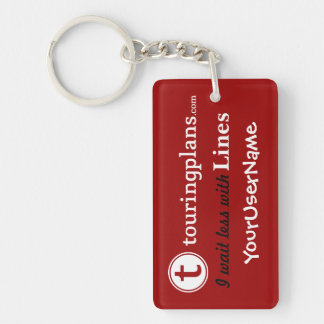 Lines Key Chain (Red)