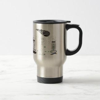 Lines Stainless Steel Travel Mug