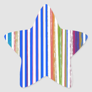 Lines- Multiple Star Sticker