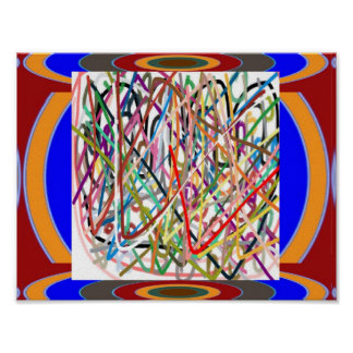 Lines n Curves : Abstract Decorative Art Poster