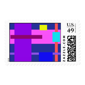 Lines Navy Postage Stamp