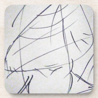 Lines of a Samurai Drink Coaster