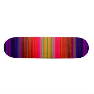 Lines of colors custom skateboard