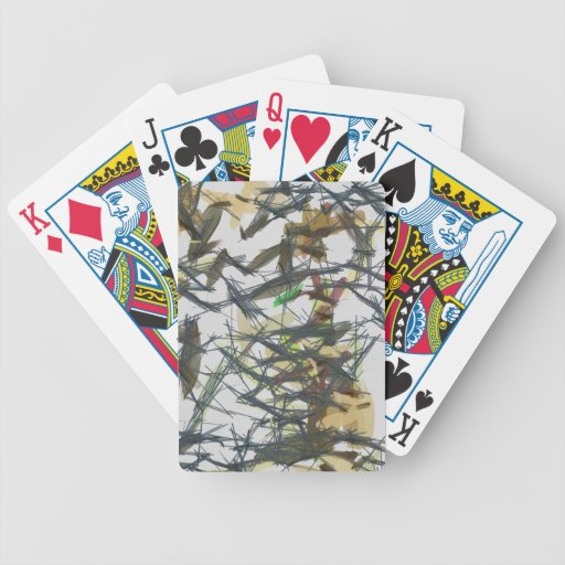Lines pattern deck of cards