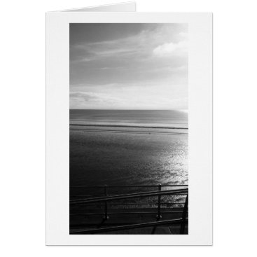 "Beach Themed Lines Summer B (Black & White)- (5"" x 7"") RBDStore Card"