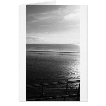"Beach Themed Lines Summer (Black & White)- (5"" x 7"") RBDStore Card"