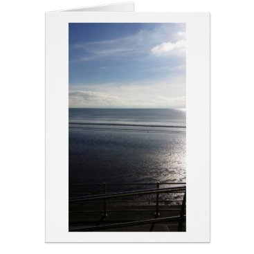 "Beach Themed Lines Summer Border - Std (5"" x 7"") Greetings Card"