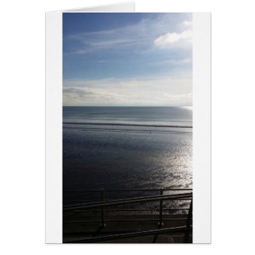 "Beach Themed Lines Summer - Standard (5"" x 7"") w white envelope Card"