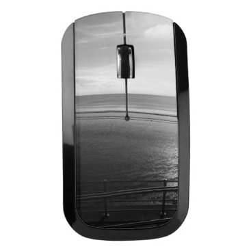 Beach Themed Lines Summer Wireless Mouse (B&W) Sunpyx