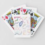 Lines swirls and patterns design card decks
