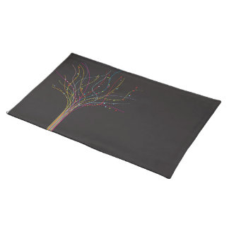 lines tree cloth placemat