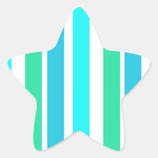 Lines vertical blue star sticker