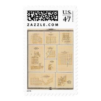 Lineville, Derby, Glidden, Ames, Conway Stamp