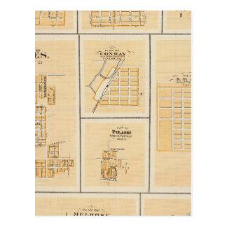 Lineville, Derby, Glidden, Ames, Conway Tarjeta Postal