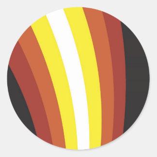 linewave pegatina redonda