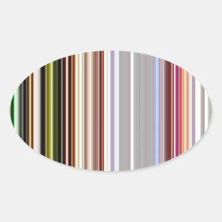 LineX4 Oval Sticker