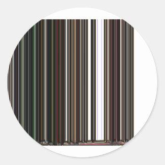 LineX5 Classic Round Sticker