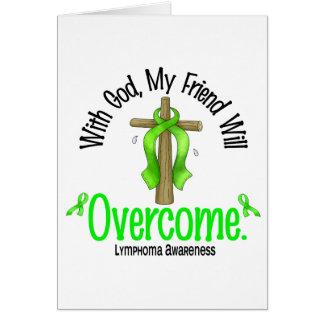Linfoma con dios que mi amigo superará tarjeta de felicitación
