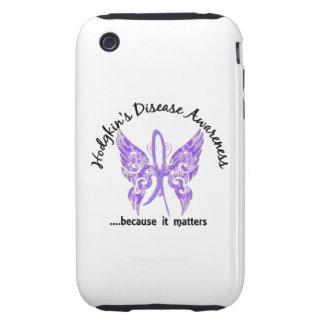 Linfoma de Hodgkin de la mariposa 6,1 Funda Though Para iPhone 3