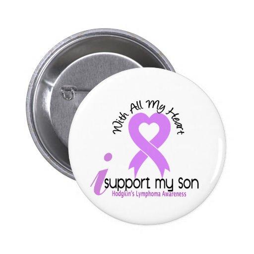Linfoma de Hodgkins apoyo a mi hijo Pin Redondo De 2 Pulgadas