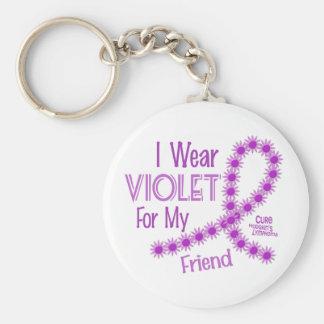 Linfoma de Hodgkins llevo la violeta para mi amigo Llavero Redondo Tipo Pin