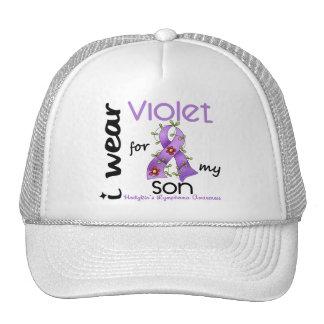 Linfoma de Hodgkins llevo la violeta para mi hijo Gorras De Camionero