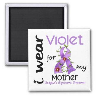 Linfoma de Hodgkins llevo la violeta para mi madre Imán Cuadrado