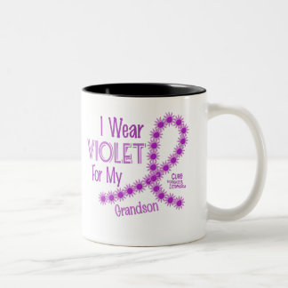 Linfoma de Hodgkins llevo la violeta para mi nieto Taza De Café De Dos Colores