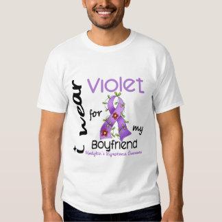 Linfoma de Hodgkins llevo la violeta para mi novio Poleras