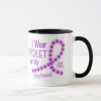 Linfoma de Hodgkins llevo la violeta para mi novio Taza
