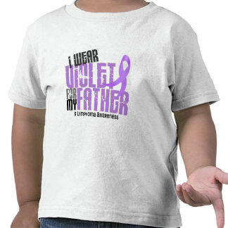 Linfoma de Hodgkins llevo la violeta para mi padre Camisetas