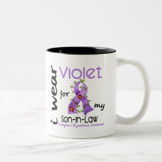 Linfoma de Hodgkins llevo la violeta para mi yerno Taza De Café De Dos Colores